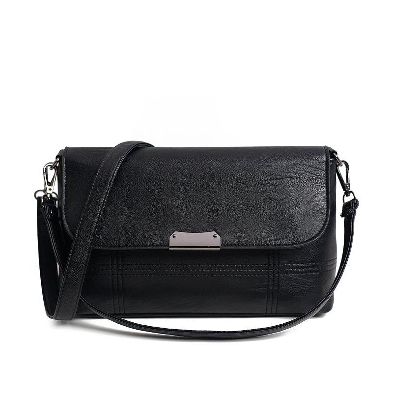 Bai Li 072 Casual Fashion All-Match Crossbody Bag - BLACK