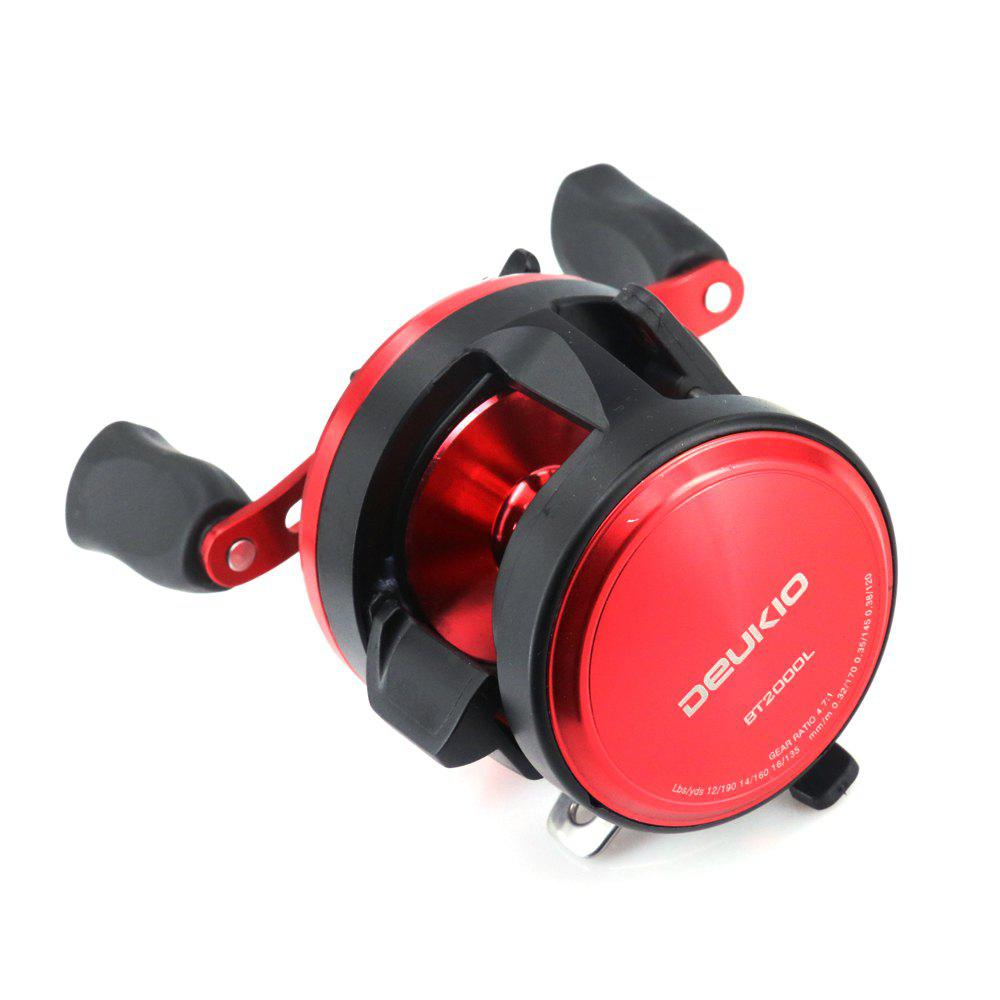 2018 New Arrival Baitcasting Round Fishing Reel with Double Soft Rubber Knob - BLACK/RED