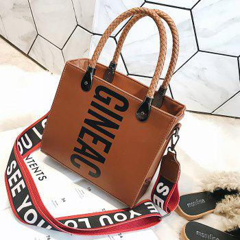 Women'S Wild Big Bag Wide-Leg Messenger Shoulder Shoulder Simple Tote Bag - BROWN