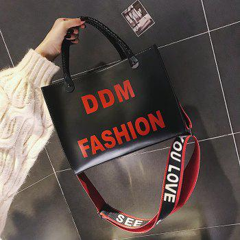 Female Harajuku Tote Bag Simple Wild Fashion Students Messenger Shoulder Bag - BLACK