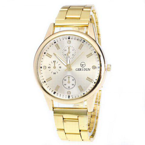 Fashion Men Quartz Business Watch - GOLDEN