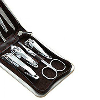 9PCS Stainless Steel Nail Clippers Manicure Tool Set -  WHITE