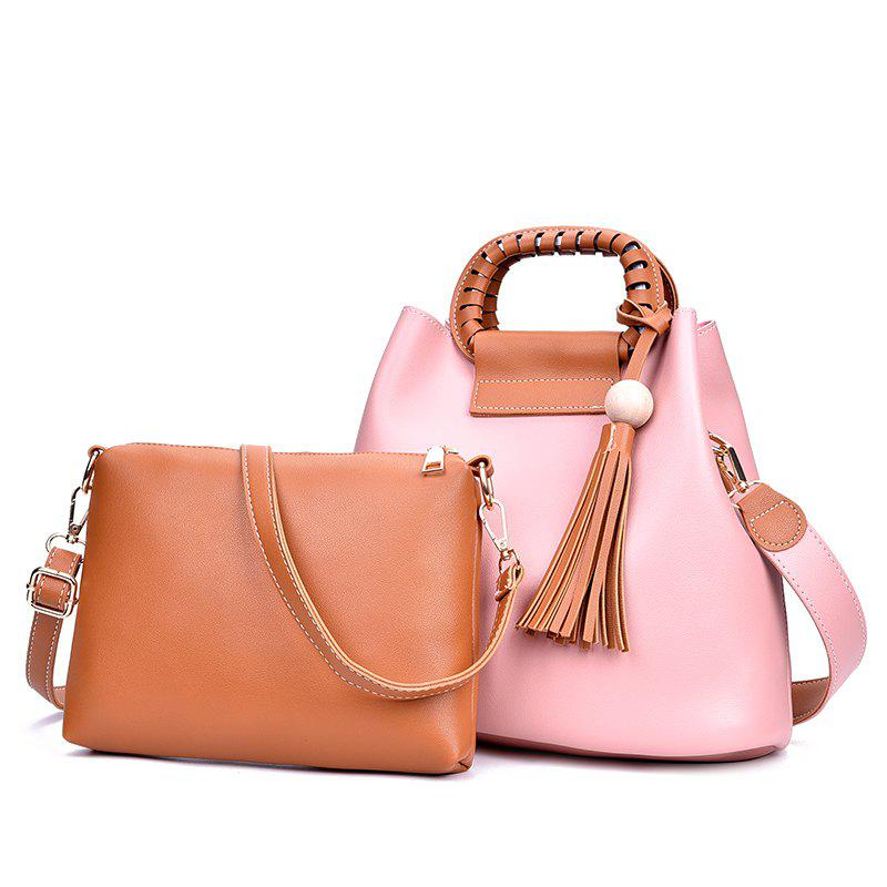 2018 New Mother Bag Collision Color Commuter Bag Female Large Package - PINK