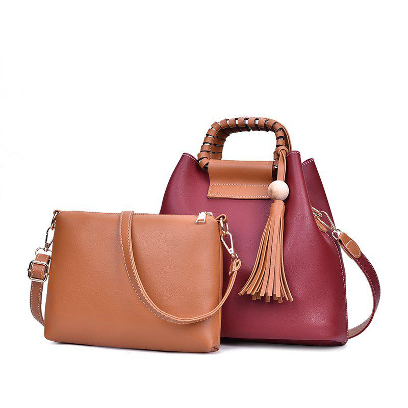 2018 New Mother Bag Collision Color Commuter Bag Female Large Package - RED