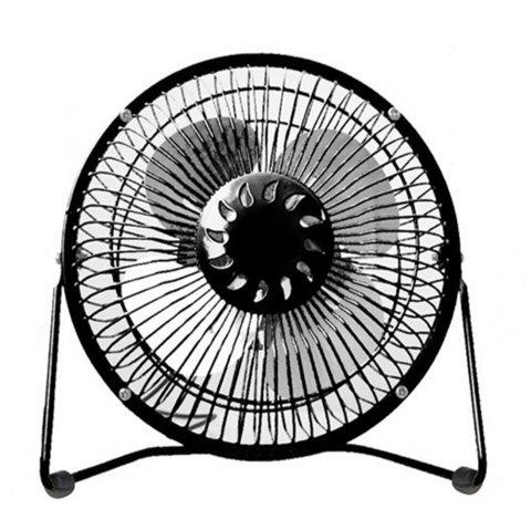 USB Delicate and Cabinet Type Electric Fan - BLACK