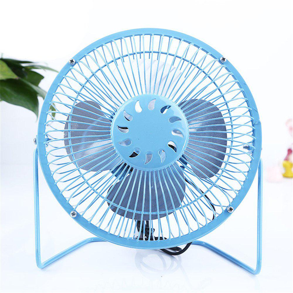 USB Delicate and Cabinet Type Electric Fan - BLUE