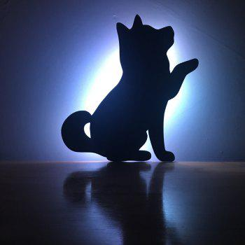 Color Remote Control Beckon Dog Shadow Projection lamp LED Small Night Light - BLACK BLACK