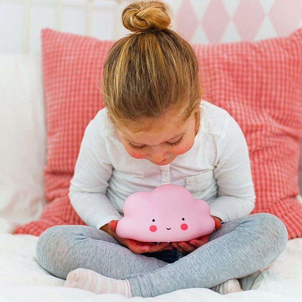 Cartoon Lovely Pink Cloud Shape Children Sleeping Bedroom LED Night Light - PINK 15.5X9.2X8.3CM