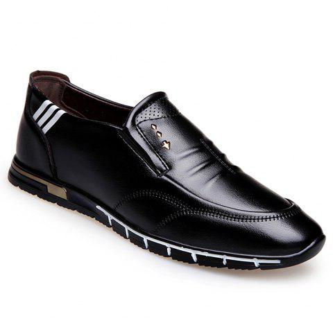Outdoor Leisure Leather Shoes - BLACK 41