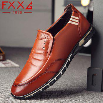 Outdoor Leisure Leather Shoes - BROWN 39
