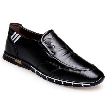 Outdoor Leisure Leather Shoes - BLACK BLACK