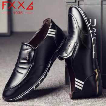 Outdoor Leisure Leather Shoes - BLACK 38