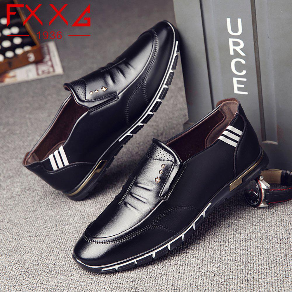 Outdoor Leisure Leather Shoes - BLACK 42