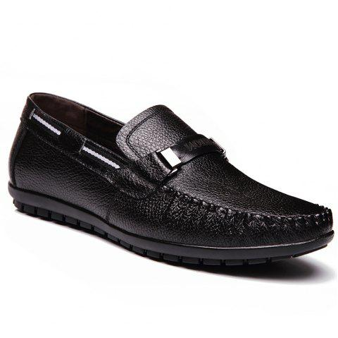 Leather Casual Doug Shoes - BLACK 44