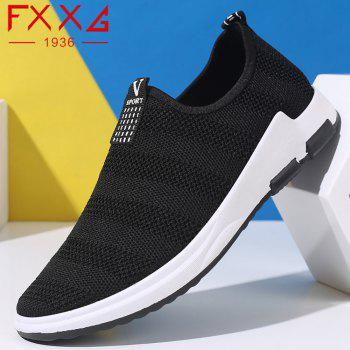 Net Cloth Sports Casual Single Shoes - BLACK 43