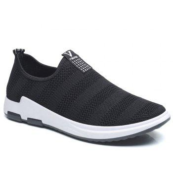Net Cloth Sports Casual Single Shoes - BLACK BLACK