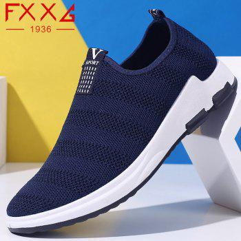 Net Cloth Sports Casual Single Shoes - BLUE BLUE