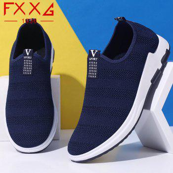Net Cloth Sports Casual Single Shoes - BLUE 44
