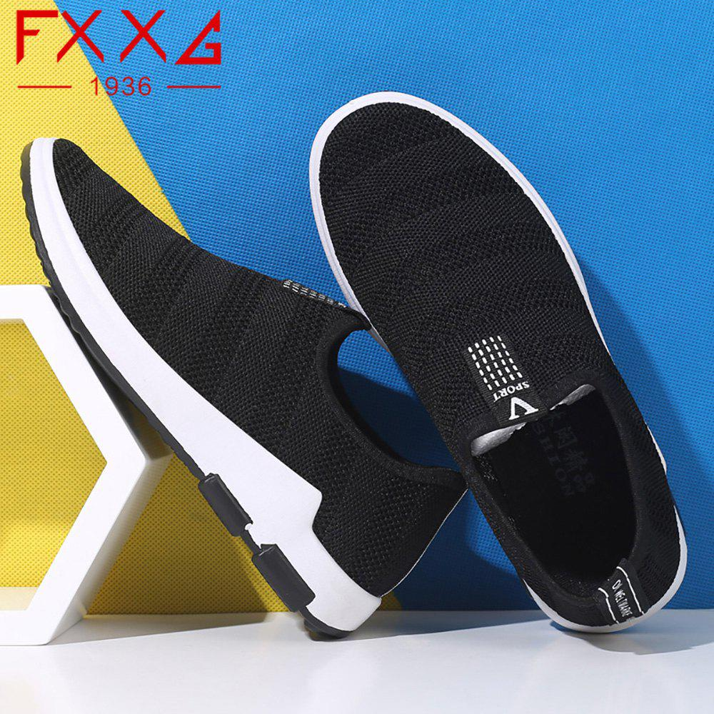 Net Cloth Sports Casual Single Shoes - BLACK 40