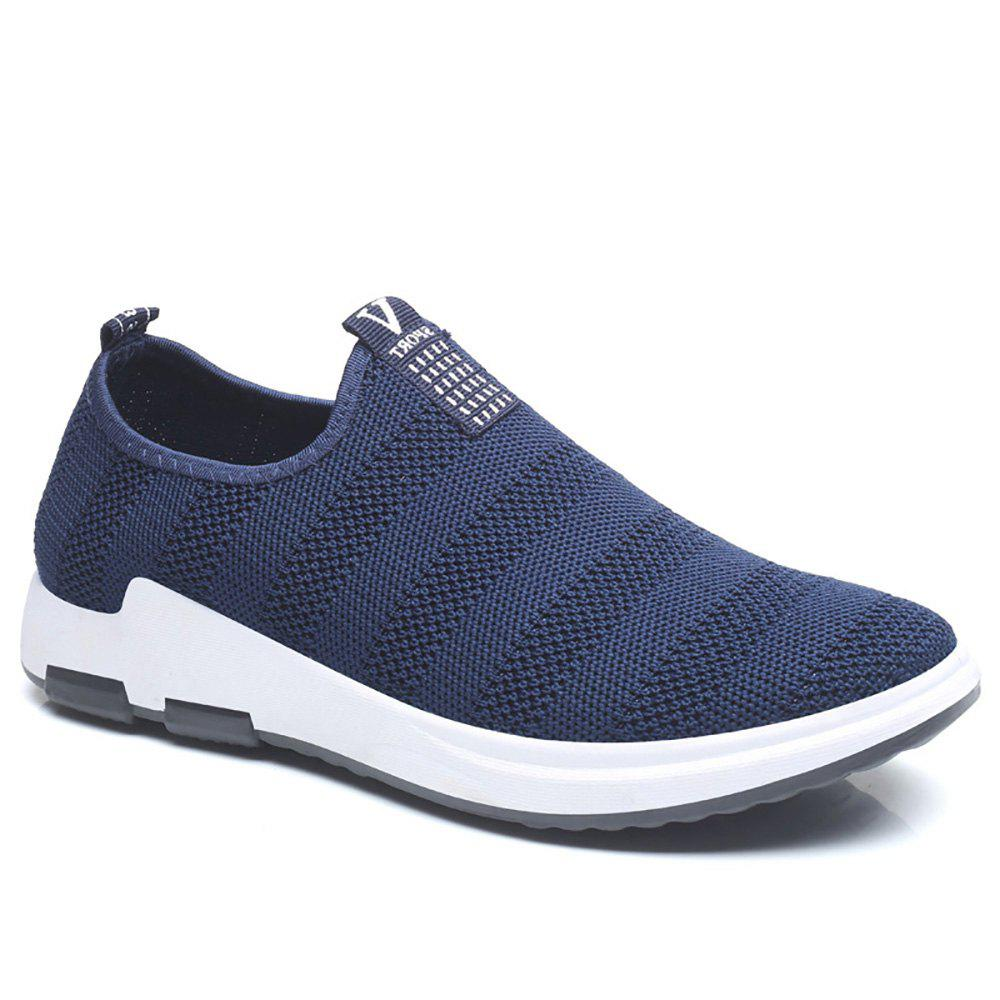 Net Cloth Sports Casual Single Shoes - BLUE 42