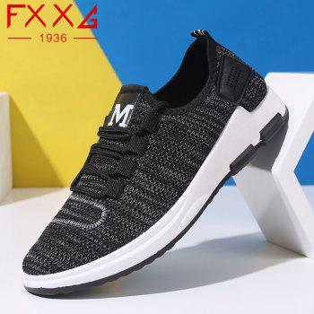 Comfortable and Breathable Net Cloth Shoes - BLACK BLACK