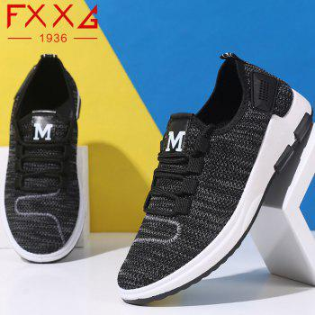 Comfortable and Breathable Net Cloth Shoes - BLACK 44