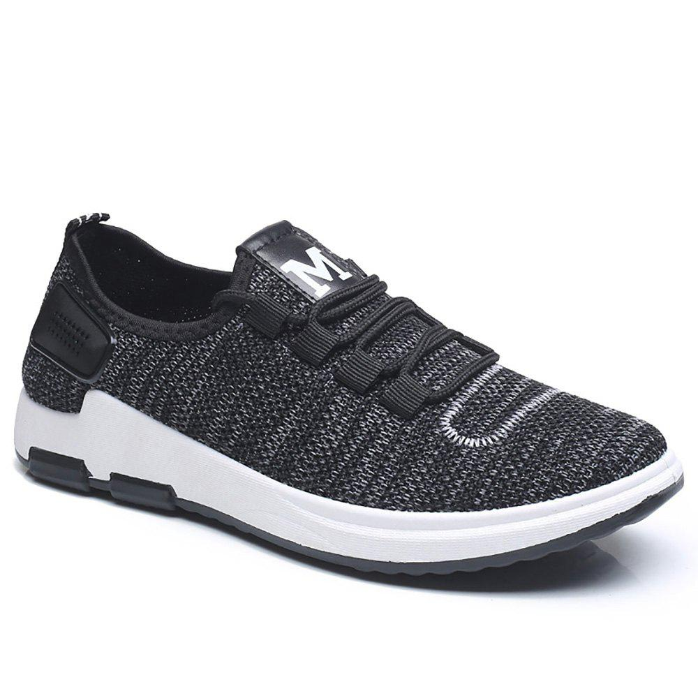 Comfortable and Breathable Net Cloth Shoes - BLACK 40