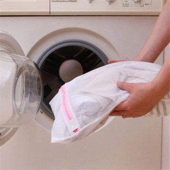 3PCS Women Bra Lingerie Socks Clean Washing Bag Wash Protecting Mesh Washing Machine Practical Aid Laundry Storage Bag - WHITE