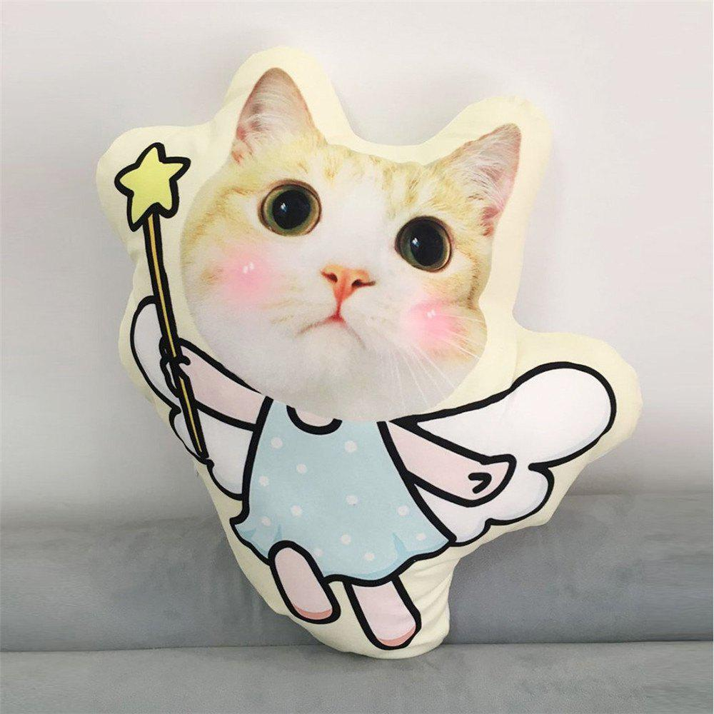 Cartoon  Angel Cat Irregular Decorative  Pillow - DAISY 40X45CM