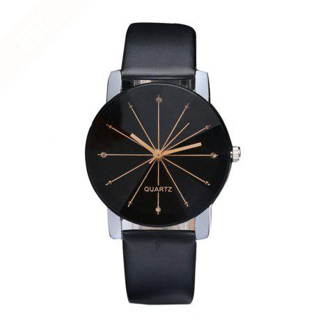 Men Trendy Simple Design Waterproof Watch - BLACK