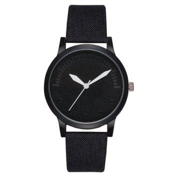 Men Simple Style Casual All Matched Elegant Vogue Watch - BLACK BLACK