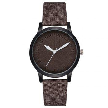 Men Simple Style Casual All Matched Elegant Vogue Watch - DEEP BROWN DEEP BROWN