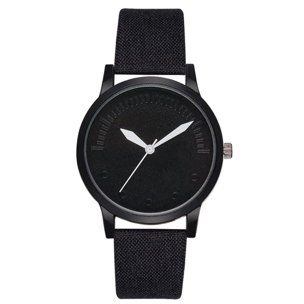 Men Simple Style Casual All Matched Elegant Vogue Watch - BLACK