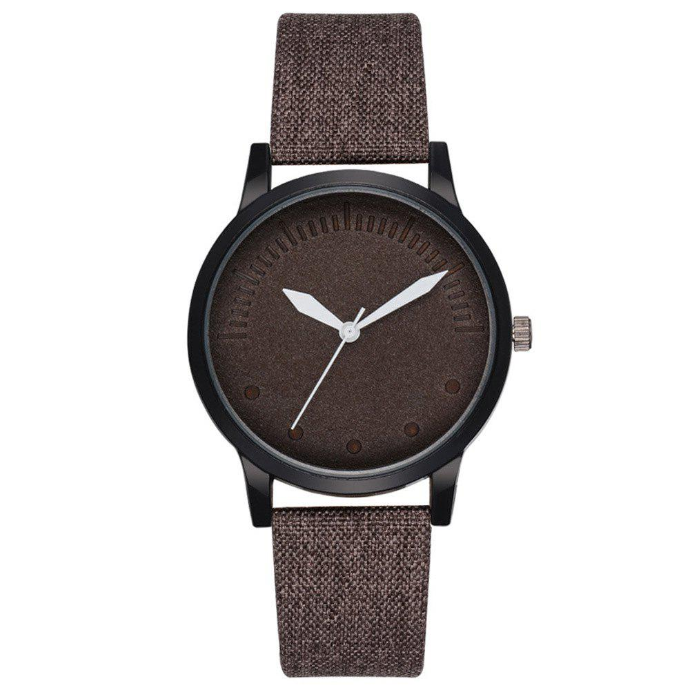 Men Simple Style Casual All Matched Elegant Vogue Watch - DEEP BROWN