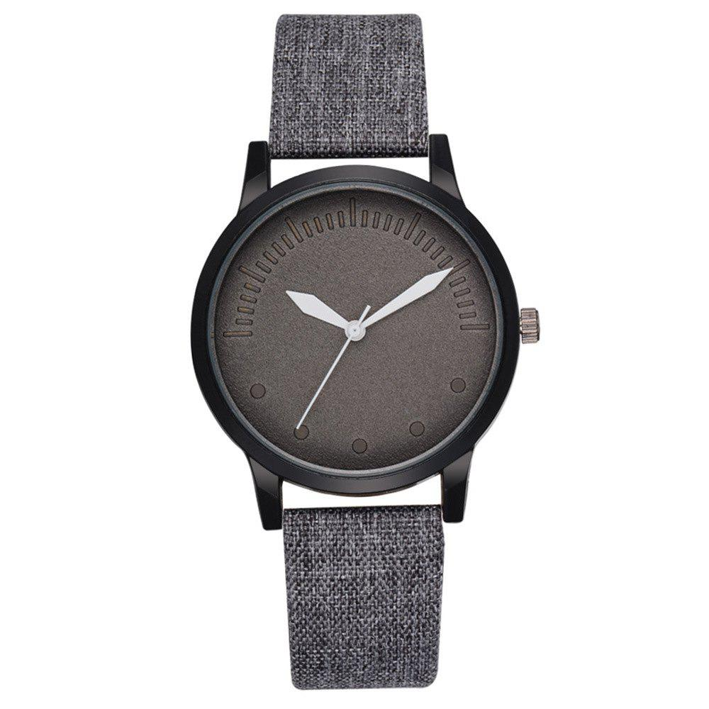 Men Simple Style Casual All Matched Elegant Vogue Watch - GRAY