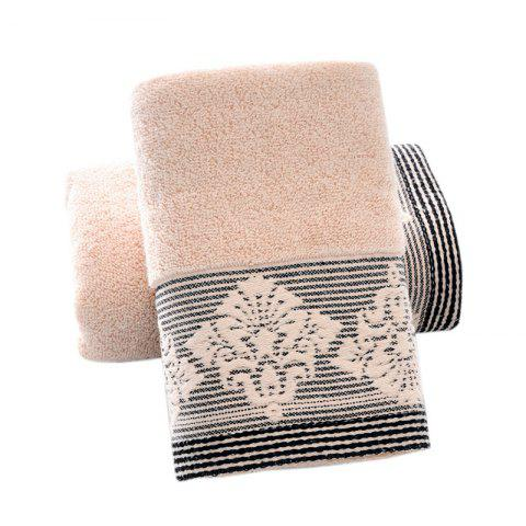 Natural Cotton Fabric Towel Rectangle Washrags Soft Face Towels - BROWN