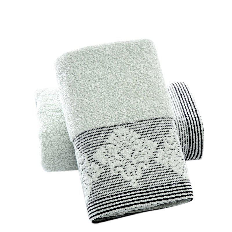 Natural Cotton Fabric Towel Rectangle Washrags Soft Face Towels - GREEN