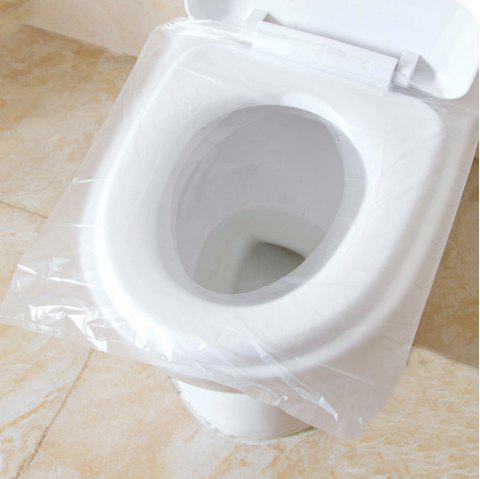50 Pieces of Disposable Toilet Seat - WHITE 1PC
