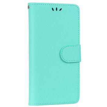 Solid Color Pattern PU Leather Wallet Case for Huawei P8 Lite - LIGHT GREEN