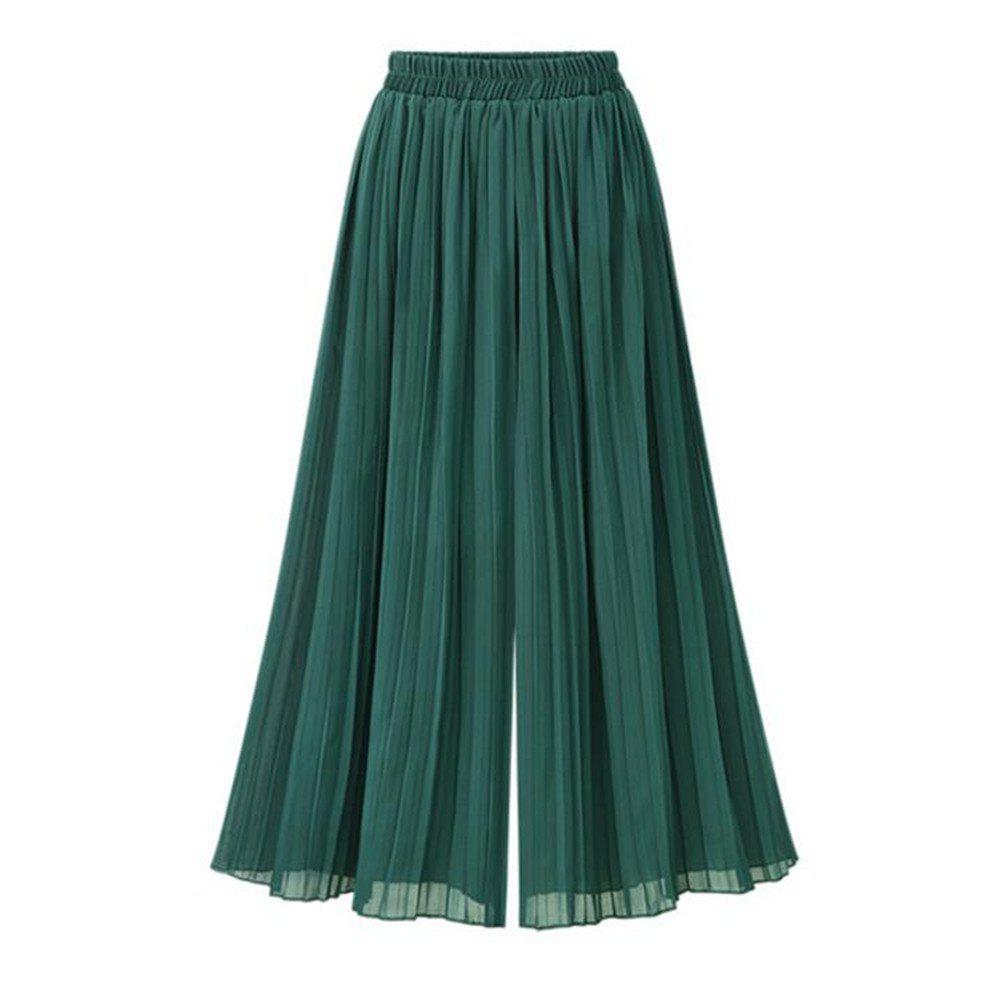 Summer New Plus Size Women's Loose Chiffon Wide Leg Pants 2017 new spring and autumn summer thin elastic male pants high waist men jeans cotton loose plus size trousers 30 42