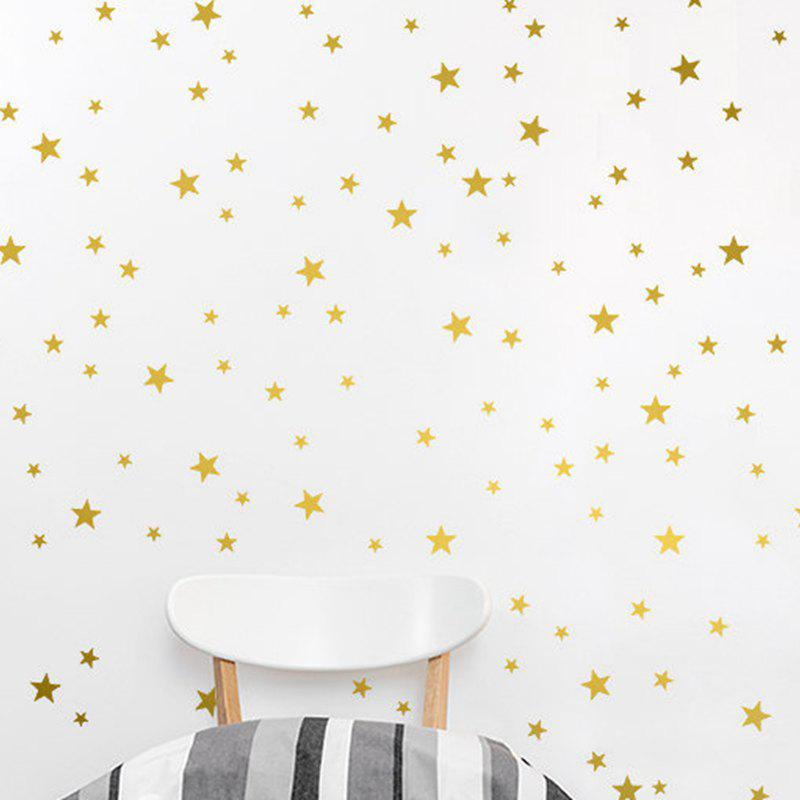 Stars Pattern Vinyl Wall Art Decals Nursery Room Decoration Wall Stickers for Kids Rooms Home Decor - GOLDEN 20 X 30 CM