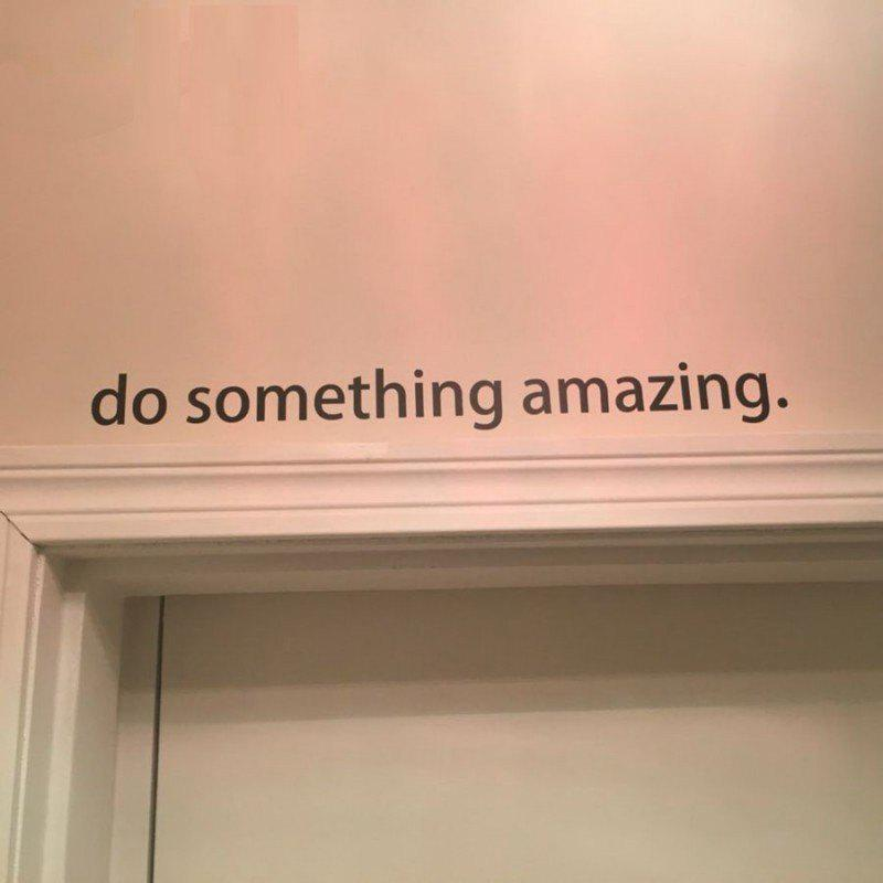 Inspirational Quote Decal Do Something Amazing Over The Door Vinyl Wall Decal Sticker Art pastel heart wall decal