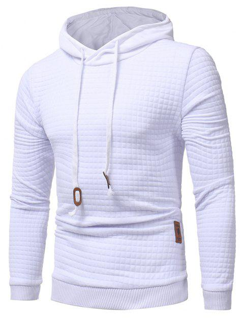 2018 Fashion Popular Slim Long-Sleeved Hoodie - WHITE 3XL