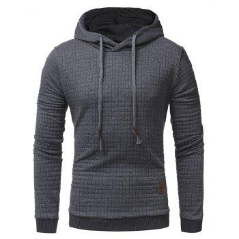 2018 Fashion Popular Slim Long-Sleeved Hoodie - DARK GRAY XL