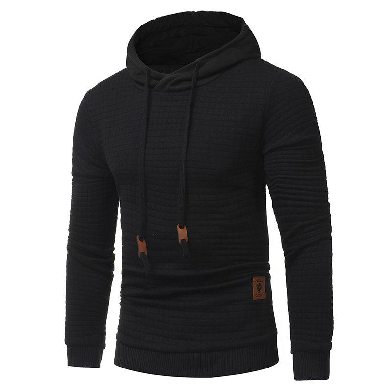 2018 Fashion Popular Slim Long-Sleeved Hoodie - BLACK XL