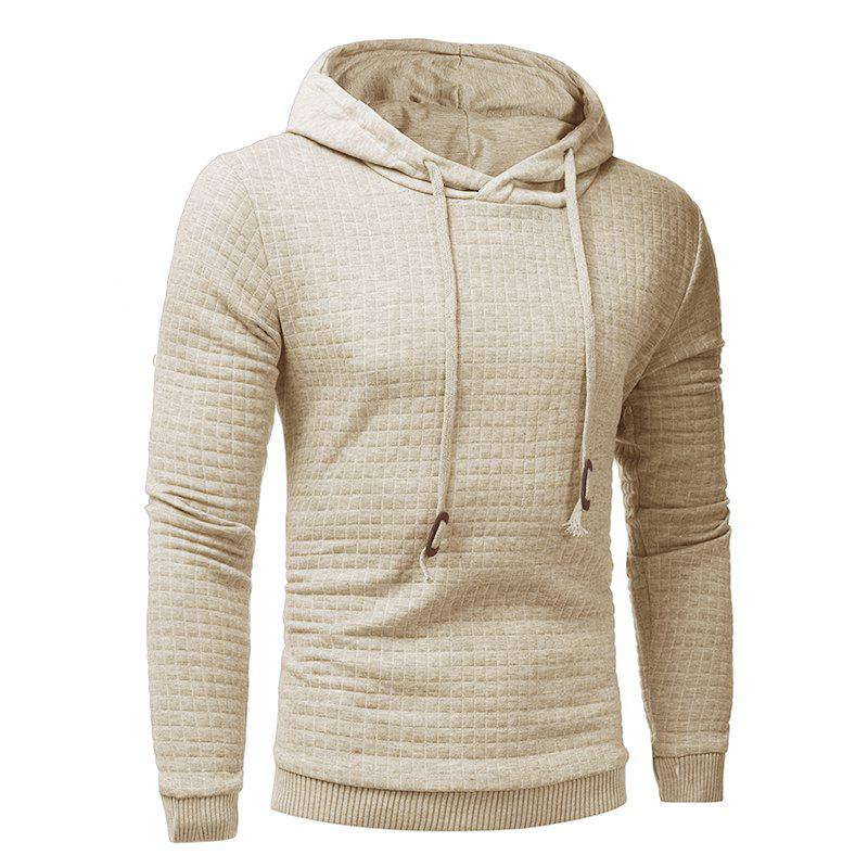 2018 Fashion Popular Slim Long-Sleeved Hoodie - APRICOT L