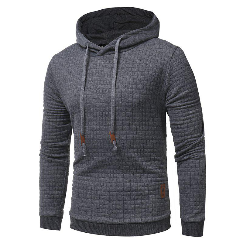 2018 Fashion Popular Slim Long-Sleeved Hoodie - DARK GRAY M