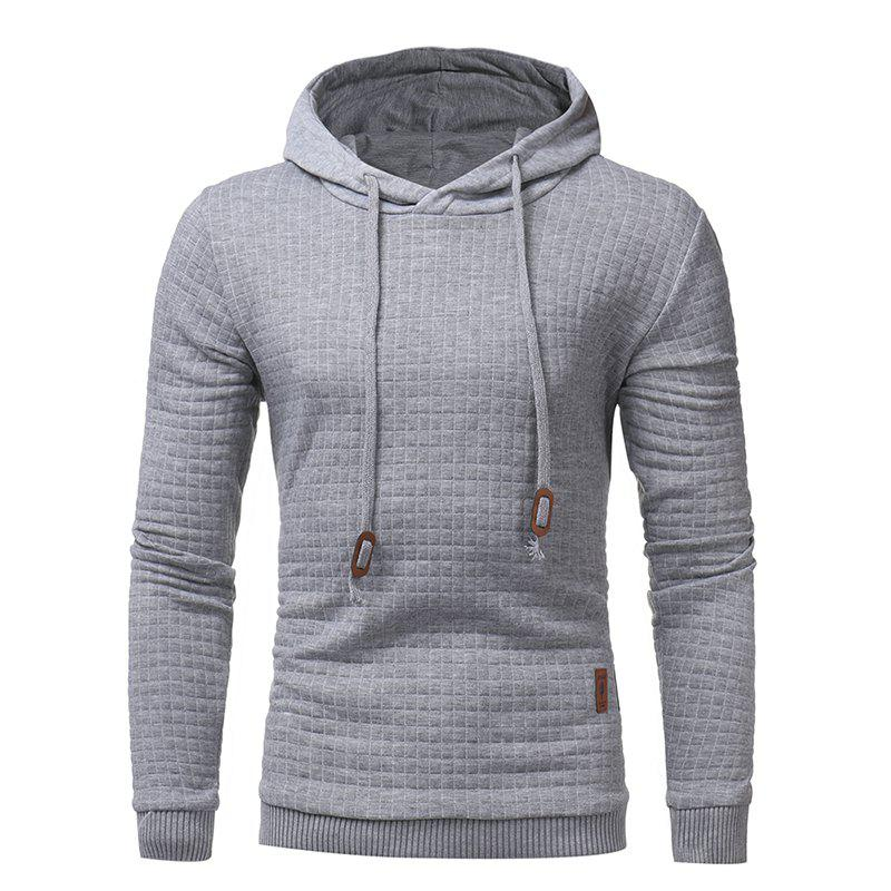 2018 Fashion Popular Slim Long-Sleeved Hoodie - LIGHT GRAY 2XL