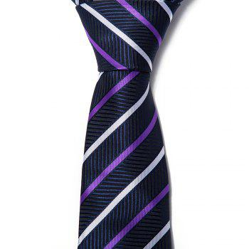 New Fashion Men Tie Color Block Business Striped Trendy Necktie Accessory - STRIPE