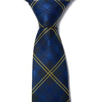 New Fashion Men Tie Unique Design Comfy Business Leisure Fine Necktie Accessory - BLUE